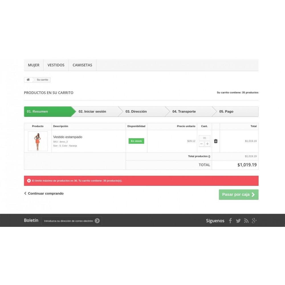 module - Gestión de Pedidos - Cantidad máxima y mínima de productos por pedido - 3