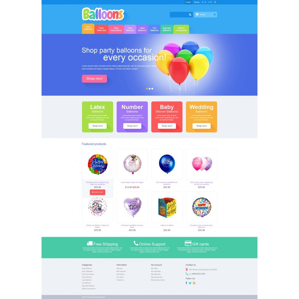 theme - Kids & Toys - Responsive Balloons Store - 4