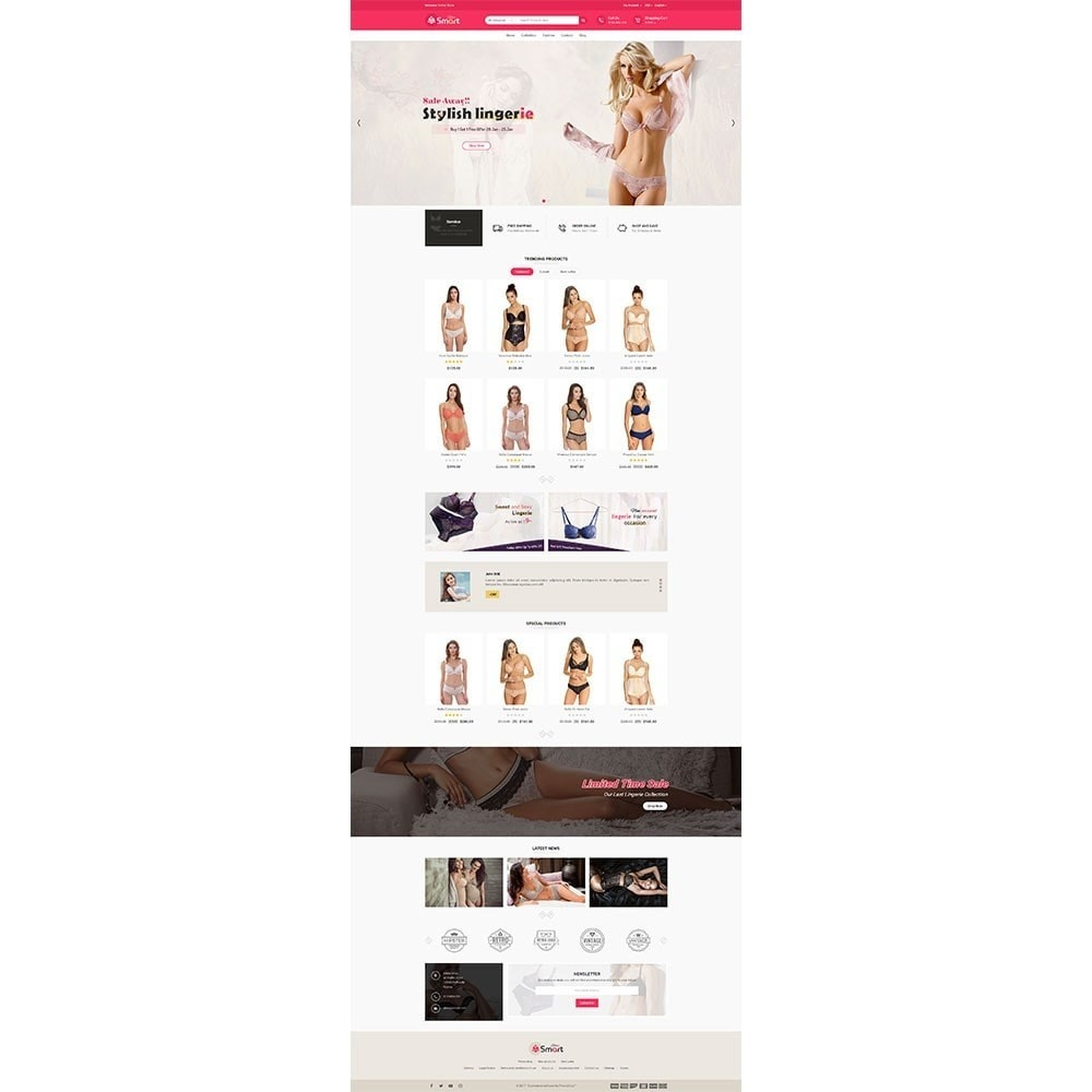 theme - Lingerie & Adultos - Lingerie Smart Store - 2
