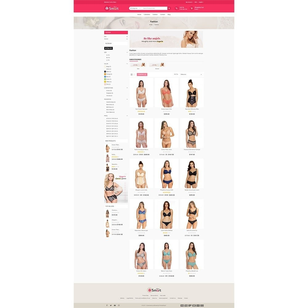 theme - Lingerie & Adultos - Lingerie Smart Store - 3