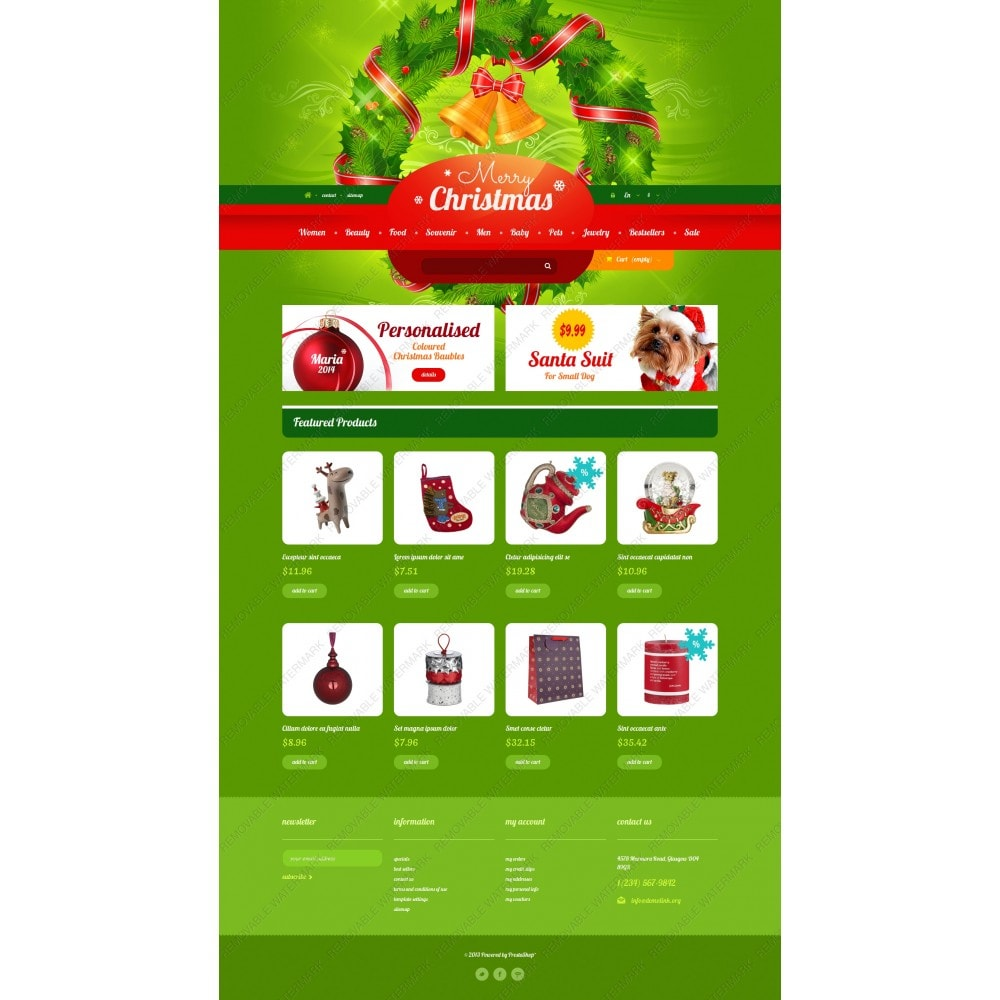 theme - Geschenke, Blumen & Feiern - Christmas Gift Shop - 3