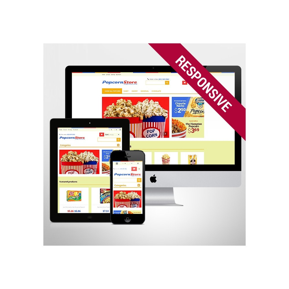 theme - Gastronomía y Restauración - Salt  Sweet Popcorn - 1