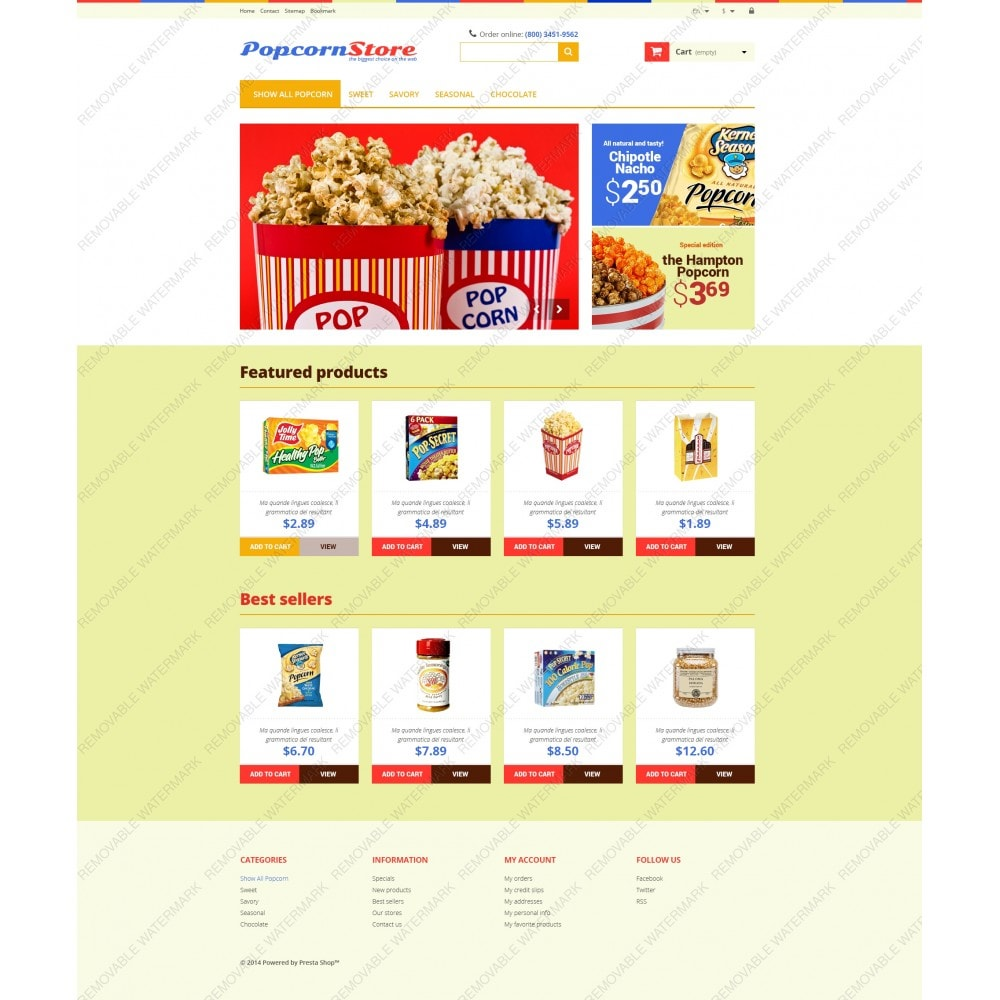 theme - Gastronomía y Restauración - Salt  Sweet Popcorn - 5