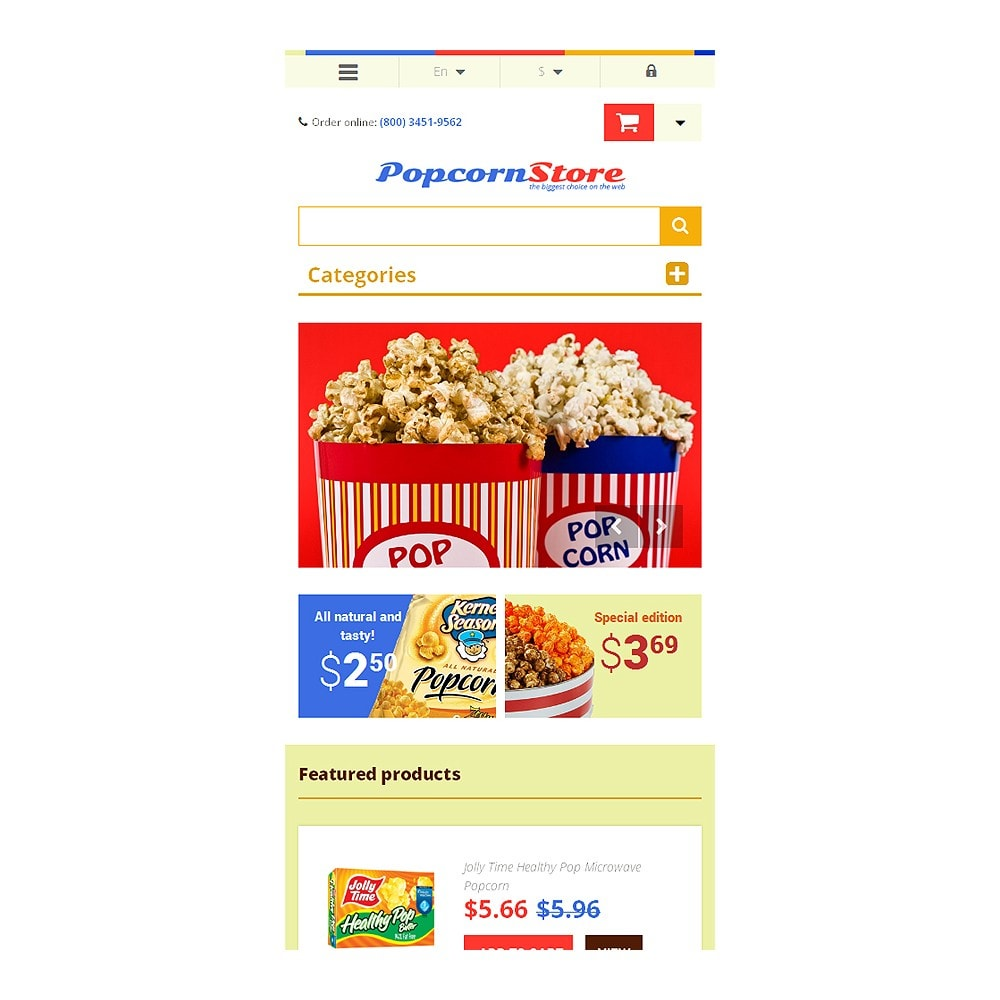 theme - Gastronomía y Restauración - Salt  Sweet Popcorn - 8
