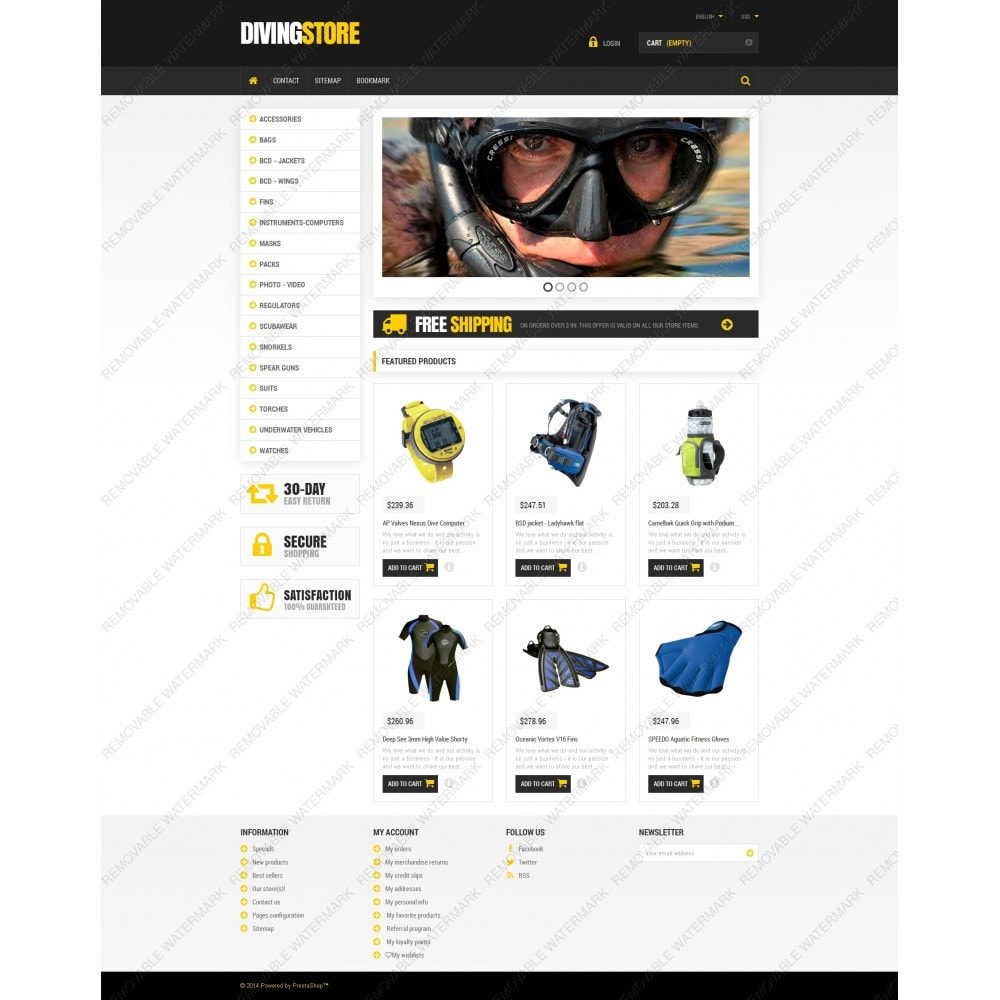 theme - Sport, Loisirs & Voyage - Scuba Diving Equipment - 3