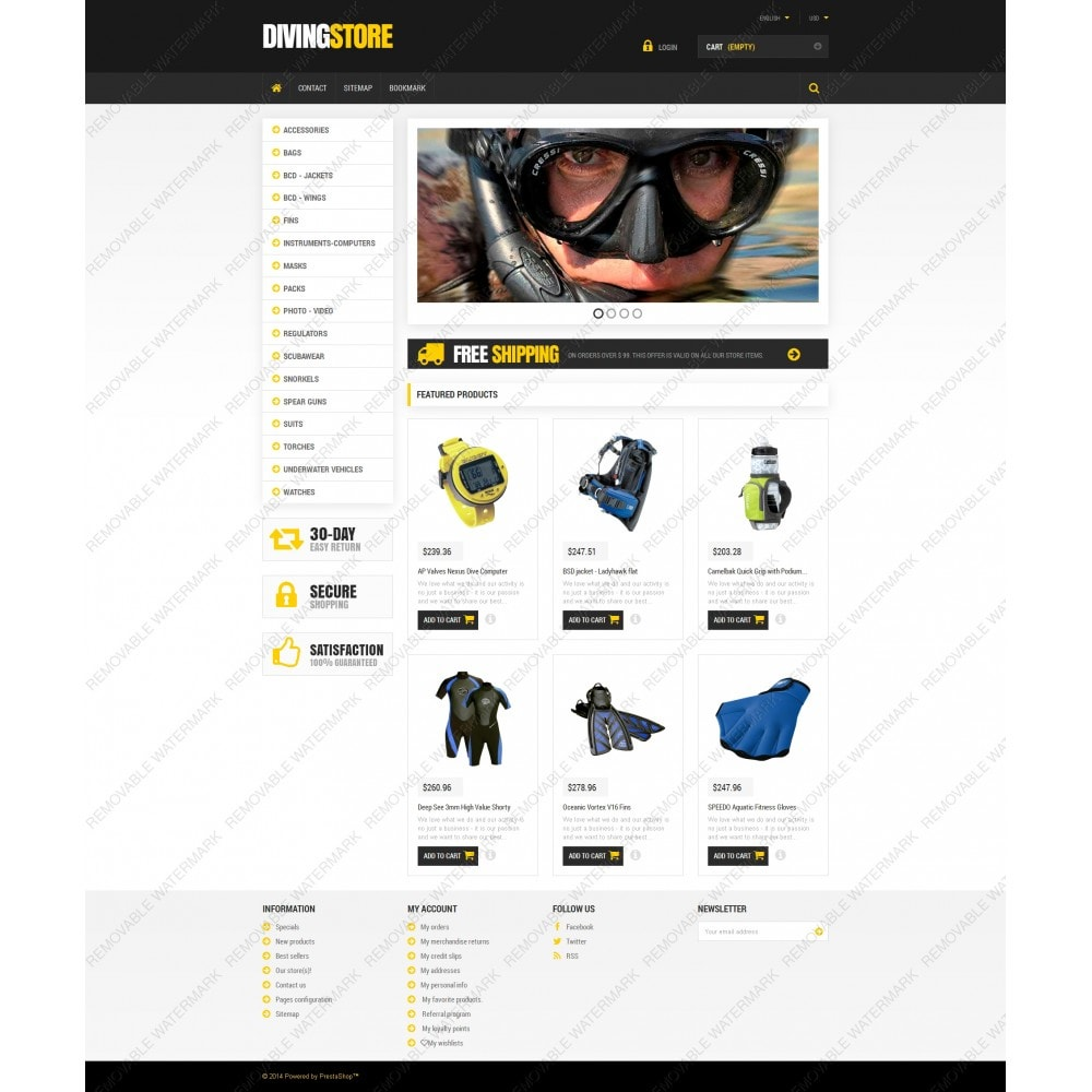 theme - Sport, Loisirs & Voyage - Scuba Diving Equipment - 5