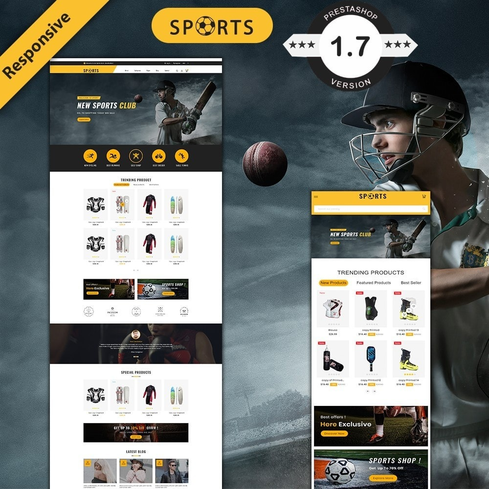 theme - Sport, Loisirs & Voyage - sports accessories store - 1
