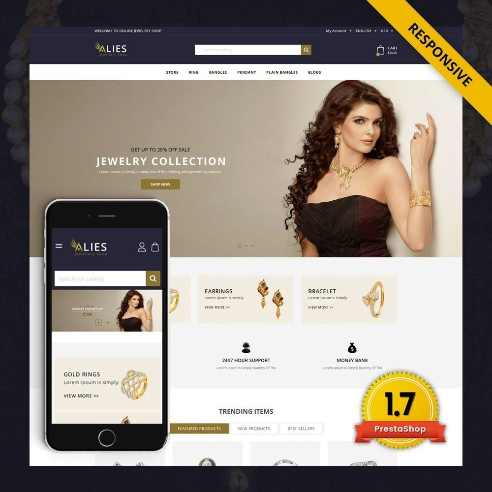 theme - Biżuteria & Akcesoria - Alies- Jewellery Store - 1