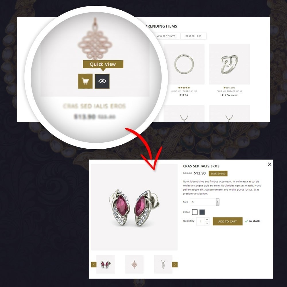 theme - Biżuteria & Akcesoria - Alies- Jewellery Store - 8