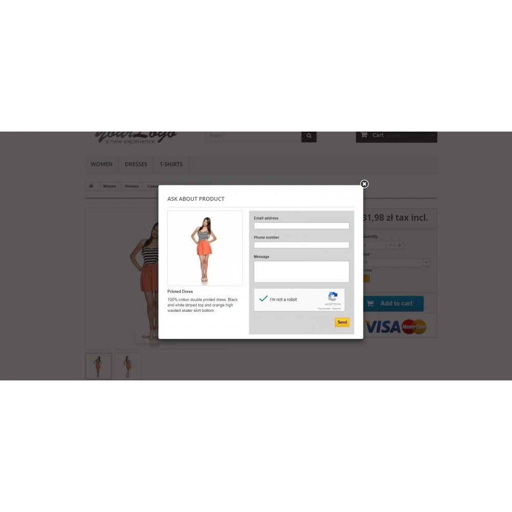 module - Форма обратной связи и Опросы - Ask about product - contact form with CAPTCHA - 1