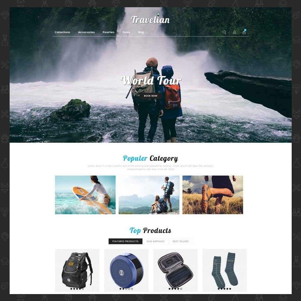 theme - Sport, Loisirs & Voyage - Travelian - Travel Store - 2