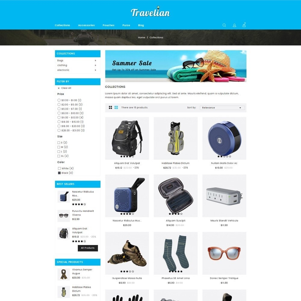 theme - Sport, Loisirs & Voyage - Travelian - Travel Store - 3
