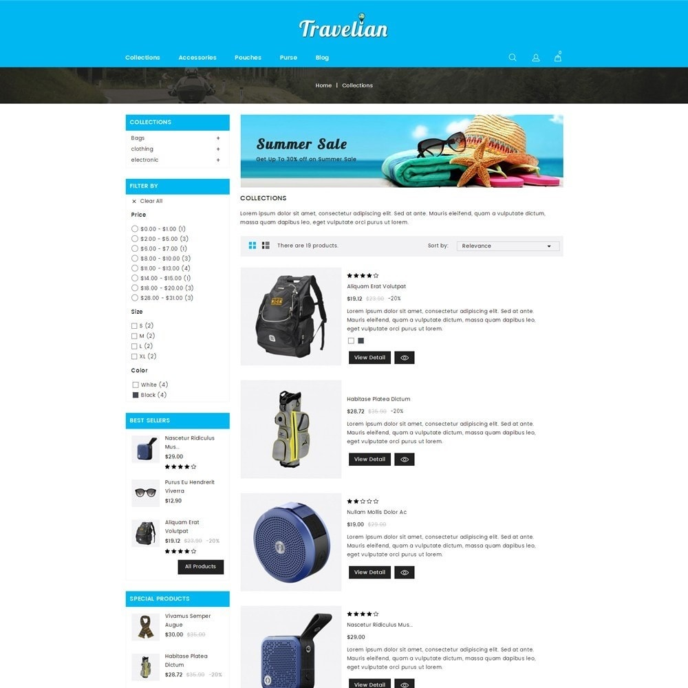 theme - Sport, Loisirs & Voyage - Travelian - Travel Store - 4