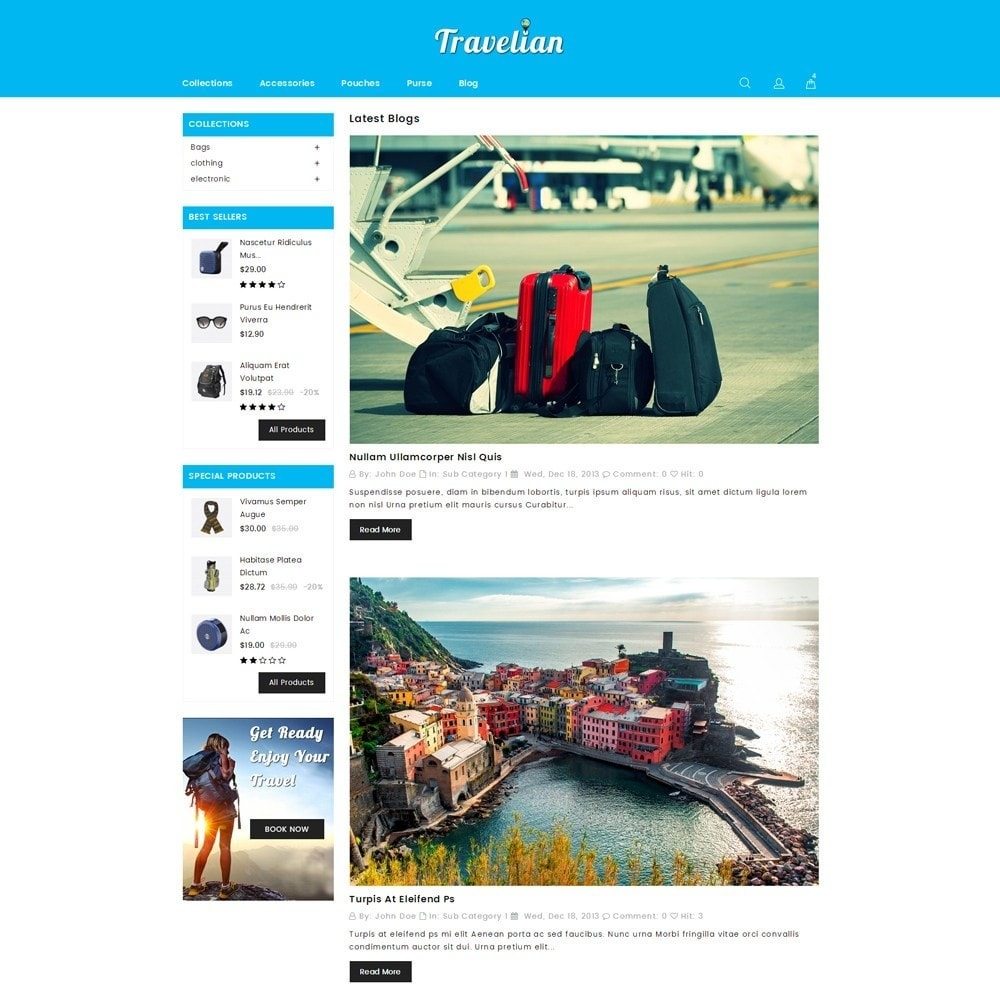 theme - Sport, Loisirs & Voyage - Travelian - Travel Store - 6