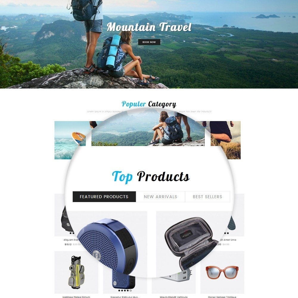 theme - Sport, Loisirs & Voyage - Travelian - Travel Store - 9