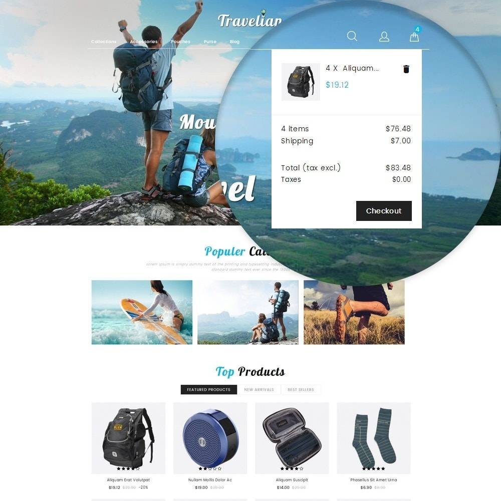 theme - Sport, Loisirs & Voyage - Travelian - Travel Store - 10