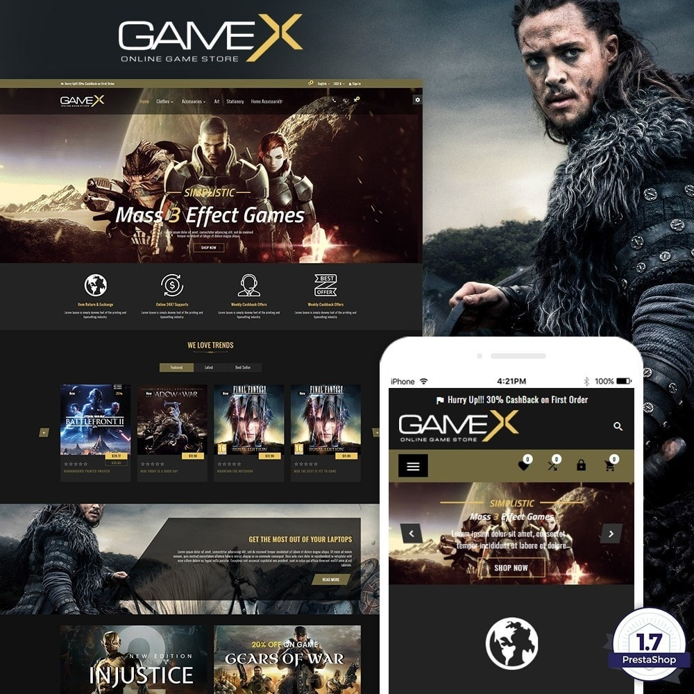 theme - Eletrônicos & High Tech - GameX – Game and Play Super Store - 1