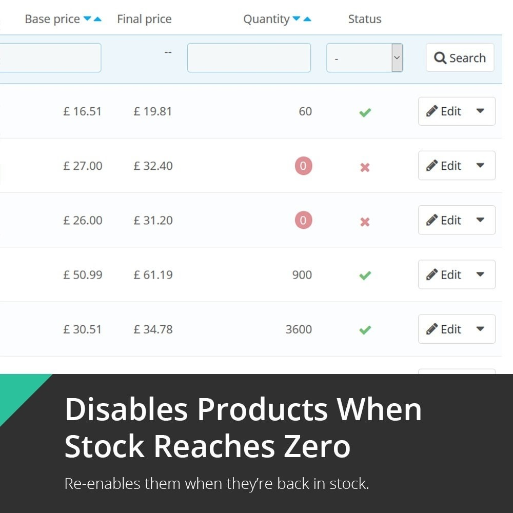 module - Gestión de Stock y de Proveedores - Out-of-Stock Product & Combination Disabler - 1