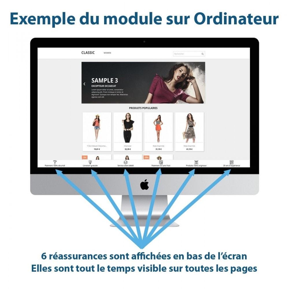 module - Blocs, Onglets & Bannières - Sticky Punchlines (Réassurances) - 1