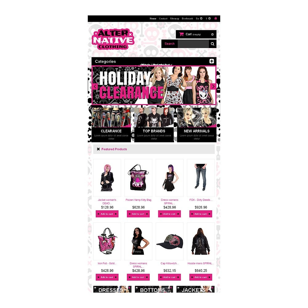 theme - Mode & Chaussures - Alternative Clothing Store - 7