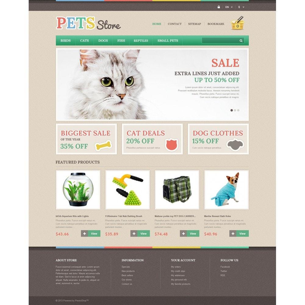 theme - Животные и домашние питомцы - Responsive Pets Store - 2