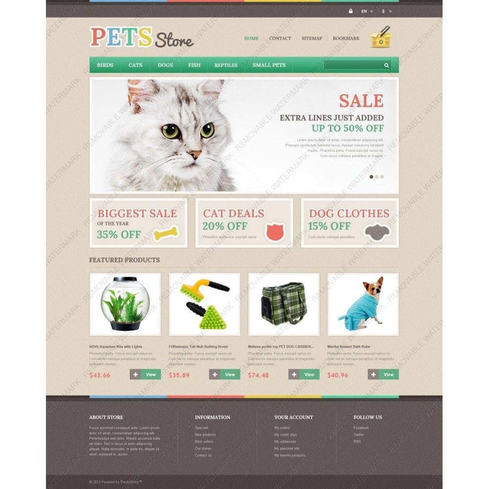 theme - Животные и домашние питомцы - Responsive Pets Store - 3