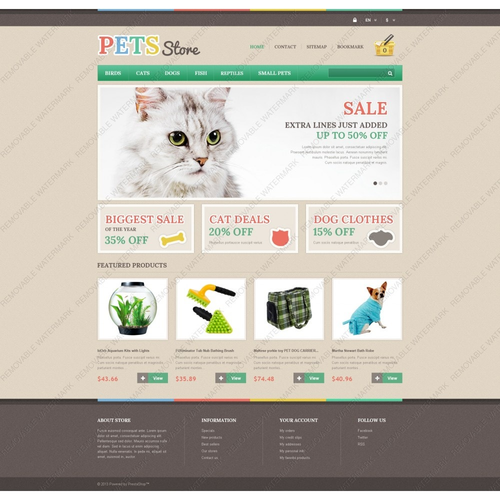 theme - Animais - Responsive Pets Store - 5