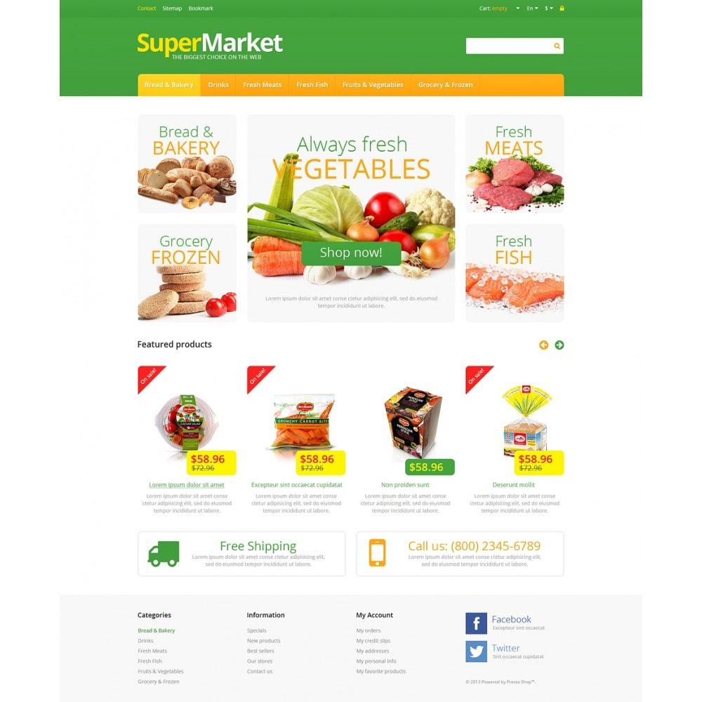 theme - Żywność & Restauracje - Responsive Supermarket - 2