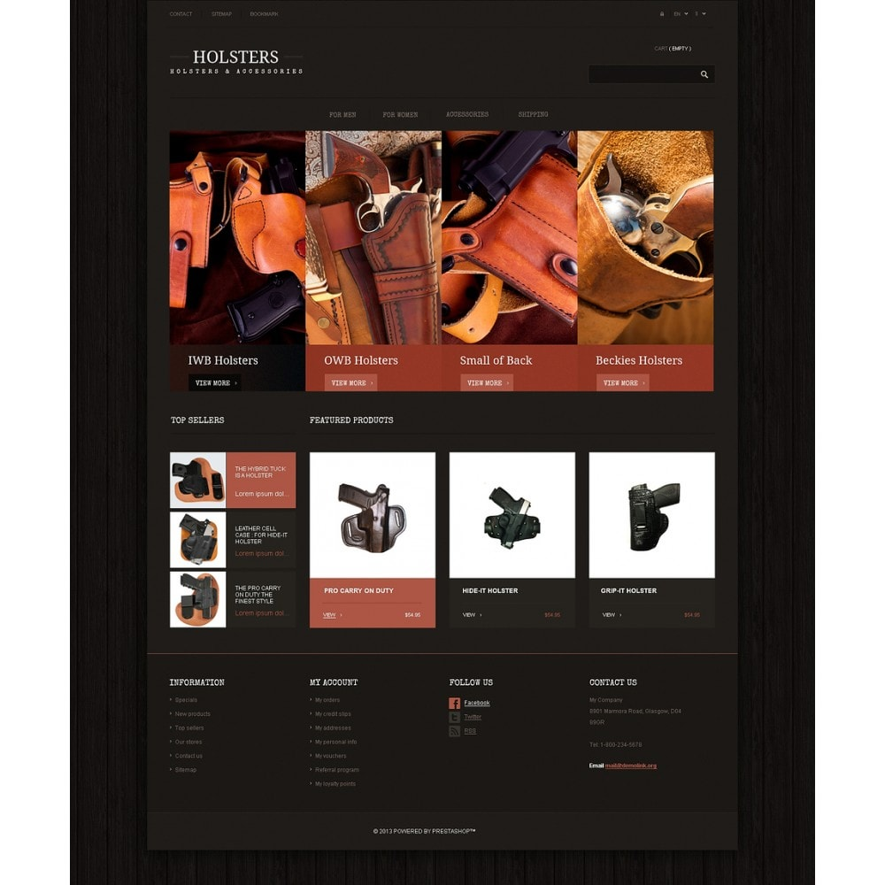 theme - Template PrestaShop - Responsive Holsters Store - 2