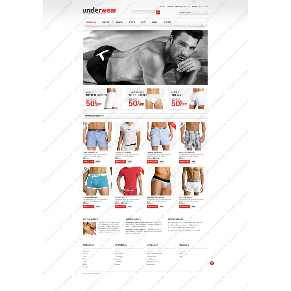 theme - Fashion & Shoes - Men's Underwear - 5