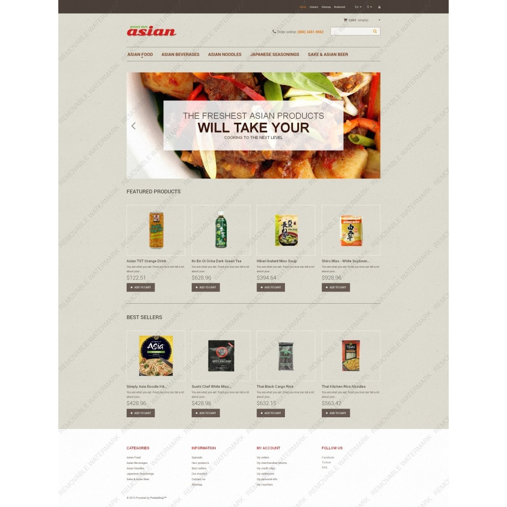 theme - Alimentation & Restauration - Asian Grocery - 3