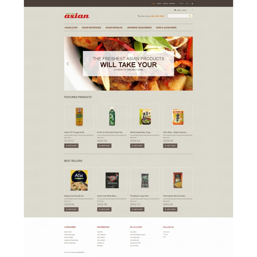 theme - Alimentation & Restauration - Asian Grocery - 4