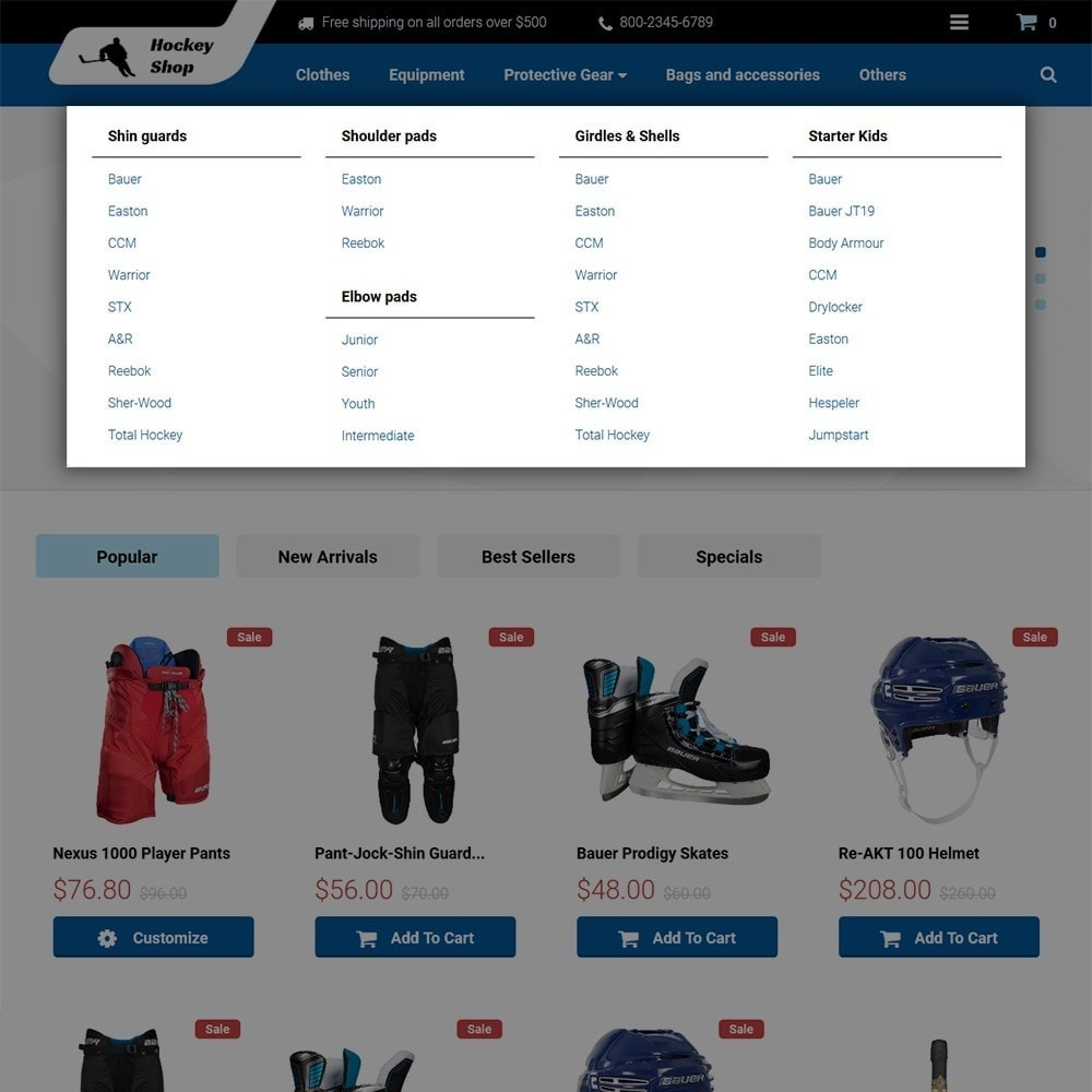 theme - Sports, Activities & Travel - Hockey Shop - 3