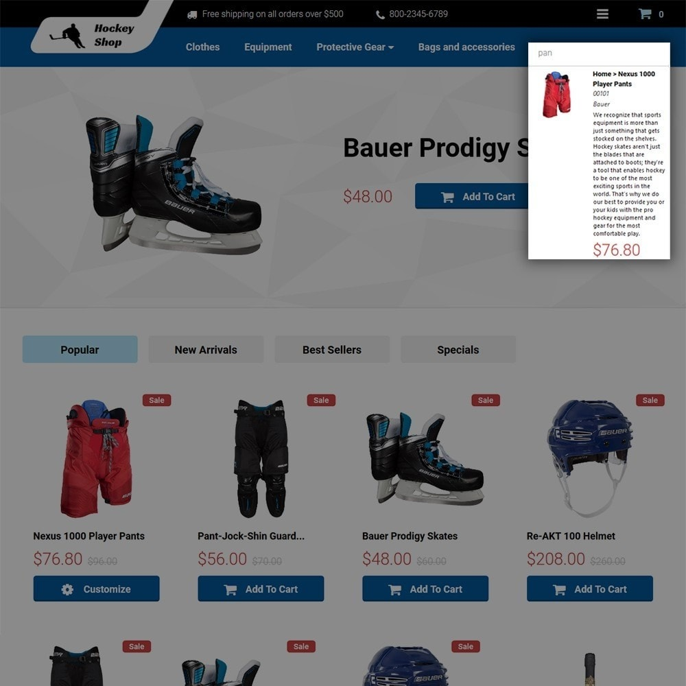 theme - Sports, Activities & Travel - Hockey Shop - 5