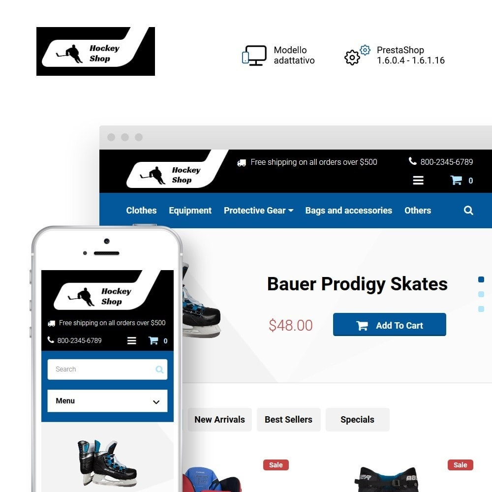 theme - Sport, Attività & Viaggi - Hockey Shop - 1
