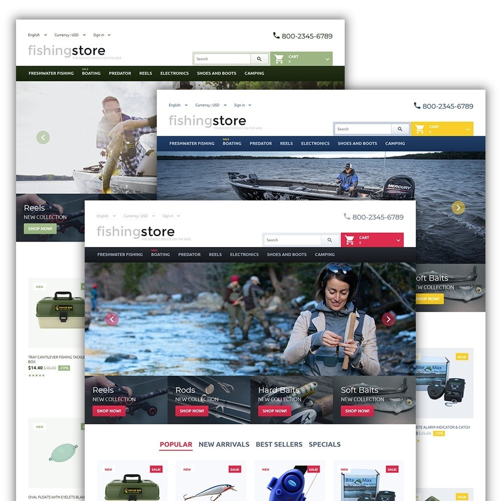 theme - Deportes, Actividades y Viajes - Fishing Store - The Biggest Choice On The Web - 2