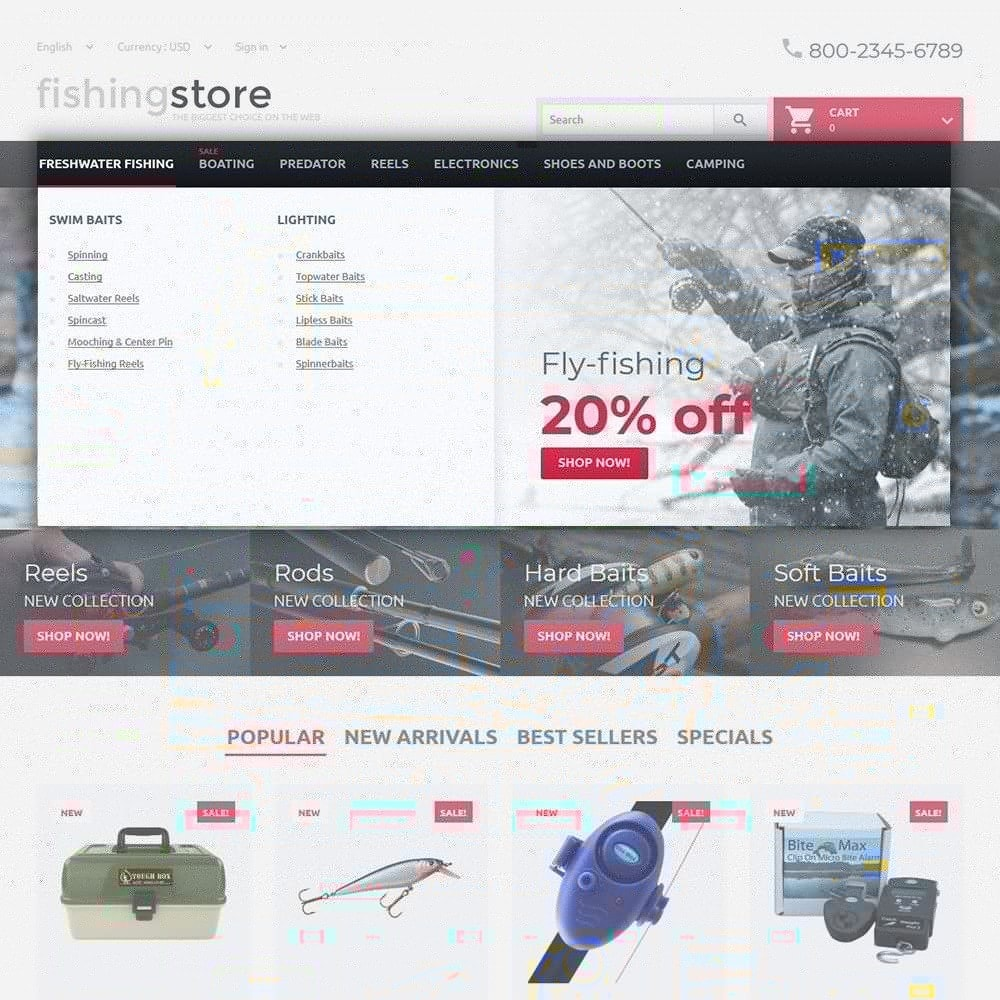 theme - Deportes, Actividades y Viajes - Fishing Store - The Biggest Choice On The Web - 4
