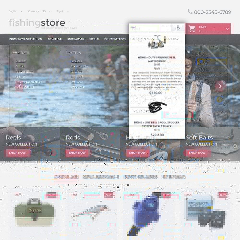theme - Deportes, Actividades y Viajes - Fishing Store - The Biggest Choice On The Web - 6