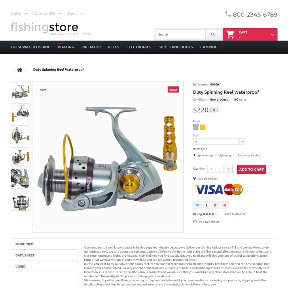 theme - Спорт и Путешествия - Fishing Store - The Biggest Choice On The Web - 3