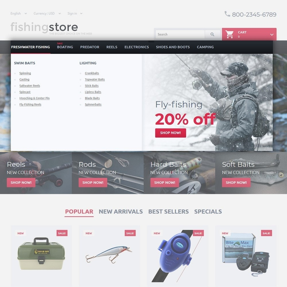 theme - Спорт и Путешествия - Fishing Store - The Biggest Choice On The Web - 4