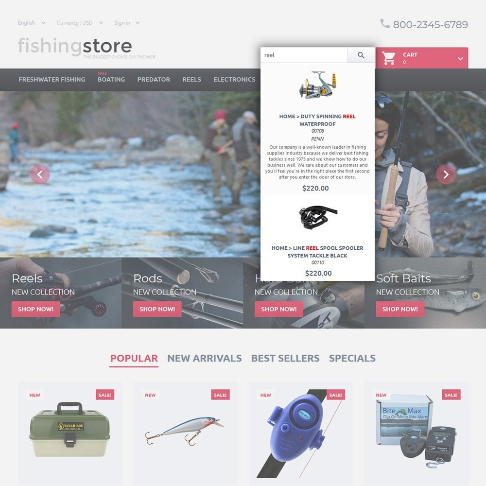 theme - Спорт и Путешествия - Fishing Store - The Biggest Choice On The Web - 6