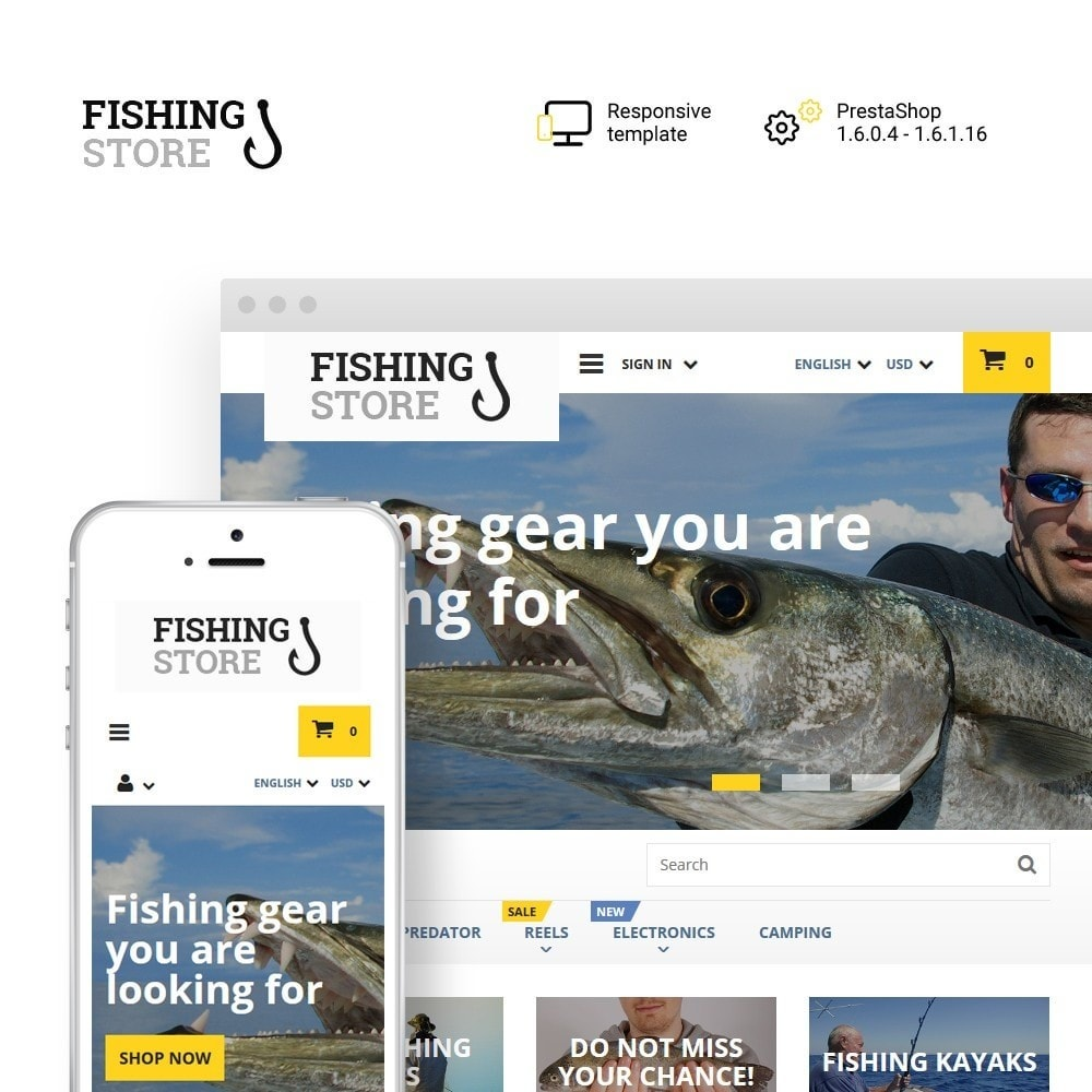 theme - Sports, Activities & Travel - Fishing Store - 1