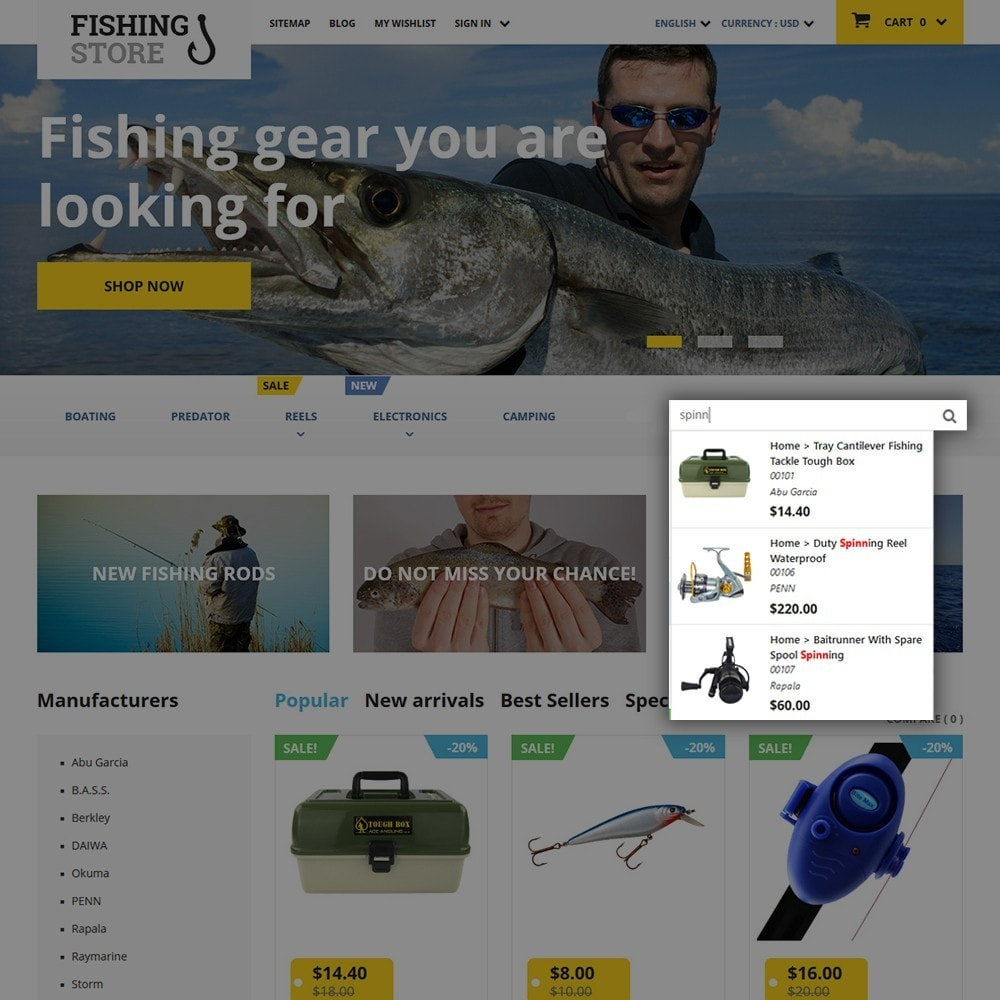 theme - Sport, Loisirs & Voyage - Fishing Store - 6