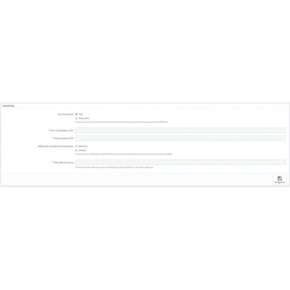 module - Sécurité & Accès - Contrôle de solvabilité suisse - 1