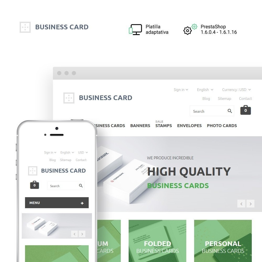 theme - Hogar y Jardín - Business Card - 1