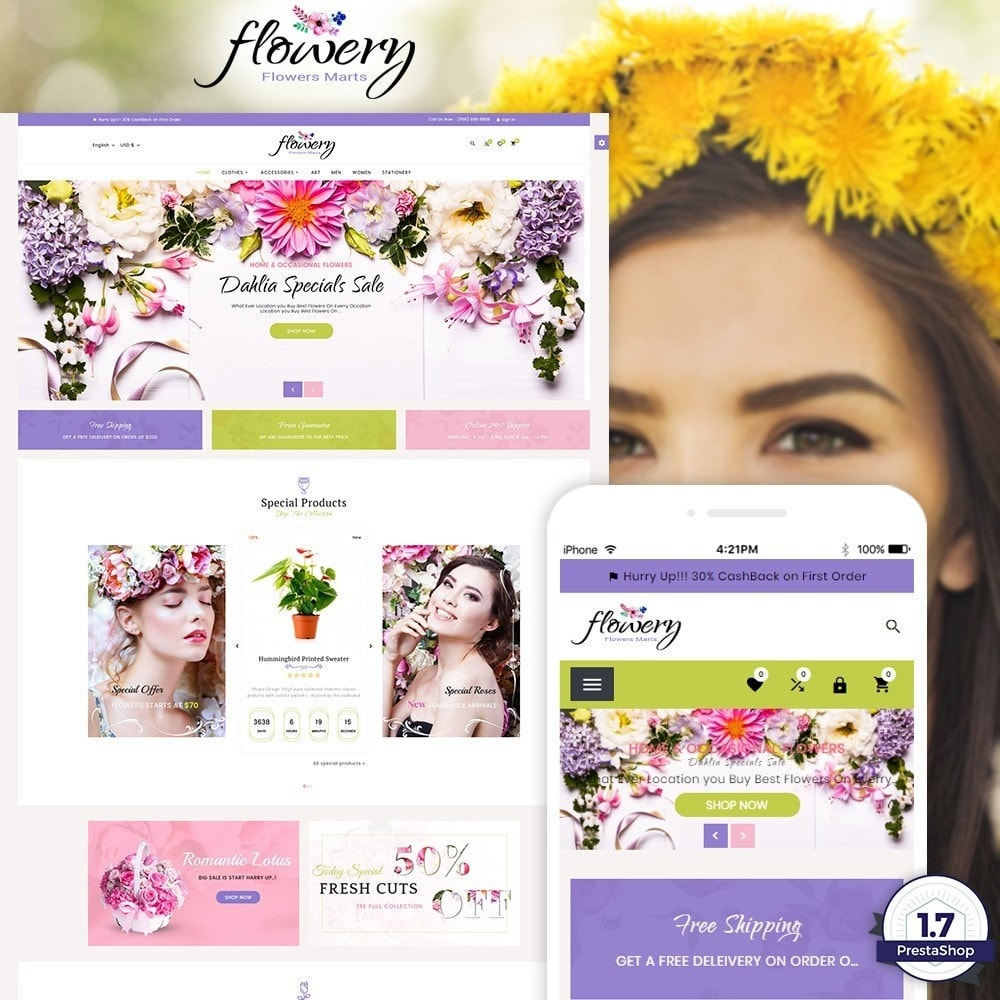 theme - Gifts, Flowers & Celebrations - Flowery – Flower and Decore Super Store - 1
