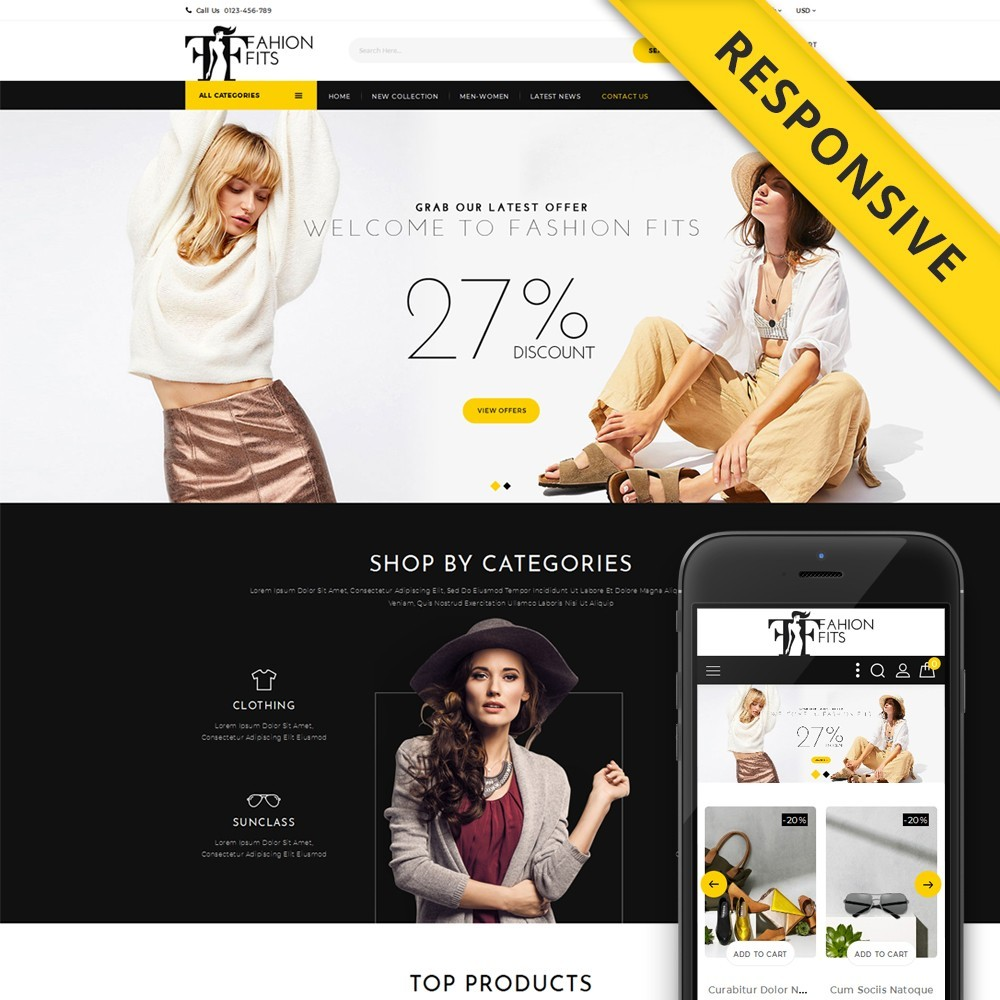 theme - Moda & Calzature - Fashion Fits Online Store - 1