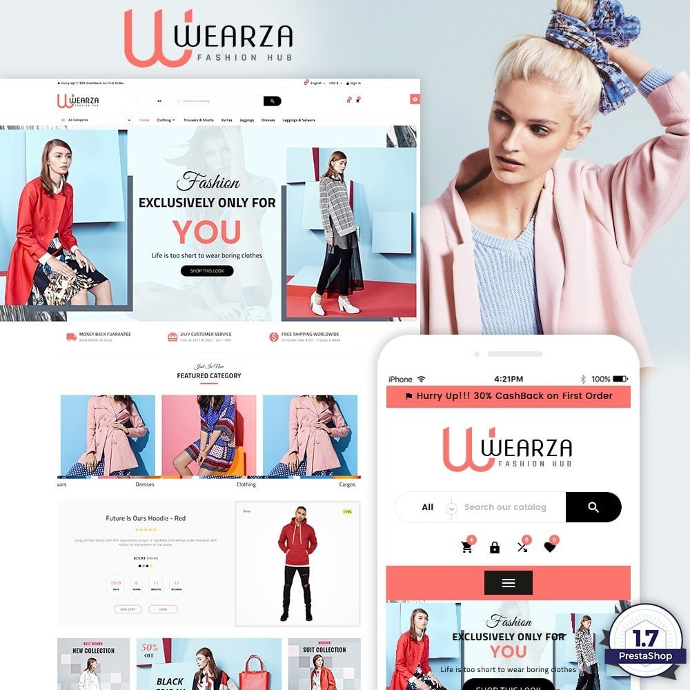 theme - Moda & Obuwie - Wearza – Fashion and Big Super Store - 1