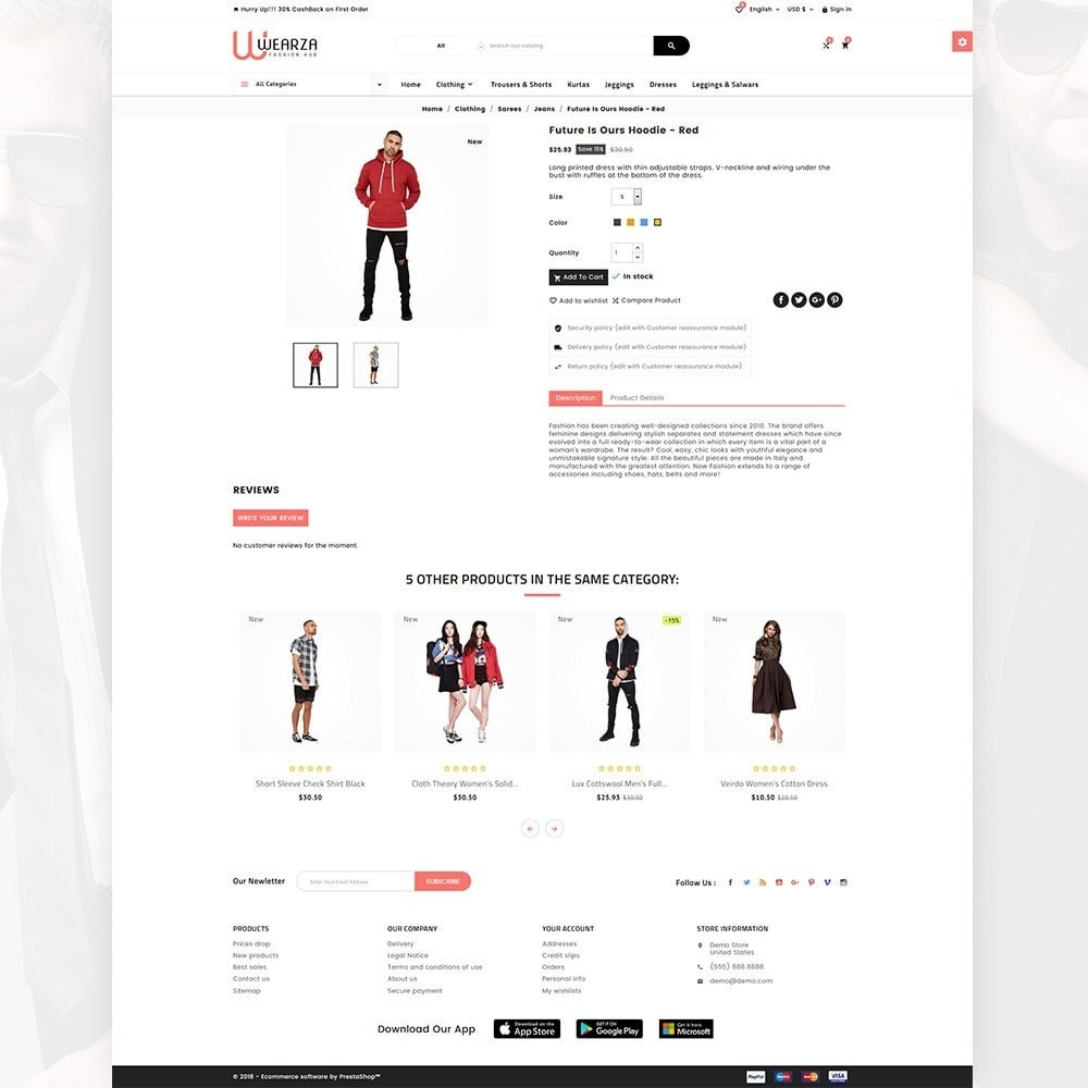 theme - Moda & Obuwie - Wearza – Fashion and Big Super Store - 4