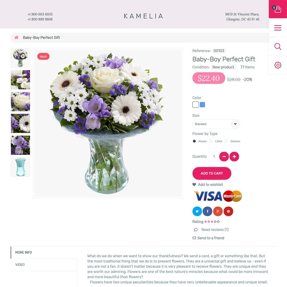 theme - Presentes, Flores & Comemorações - Kamelia - 3
